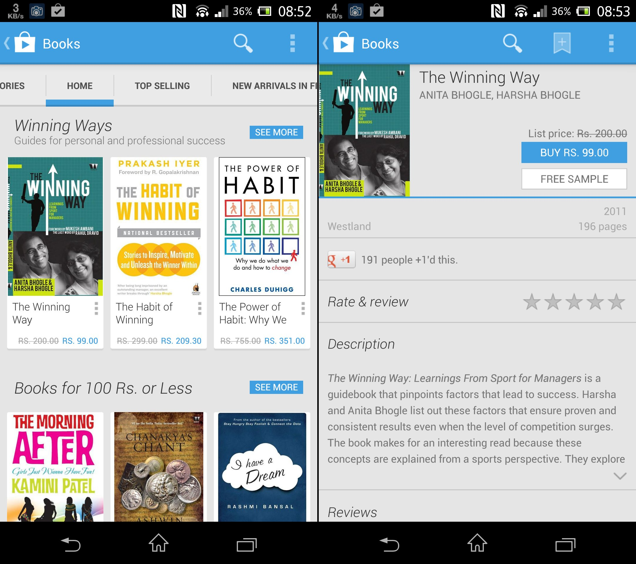 Google Play Books Full List Prices
