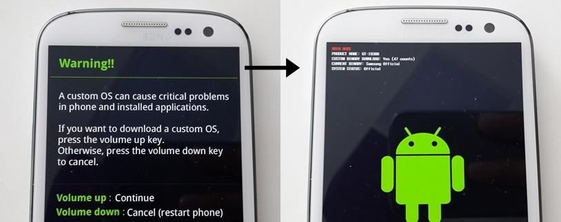 Samsung Galaxy S3 Download Mode