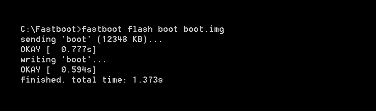 Fastboot flash boot.img