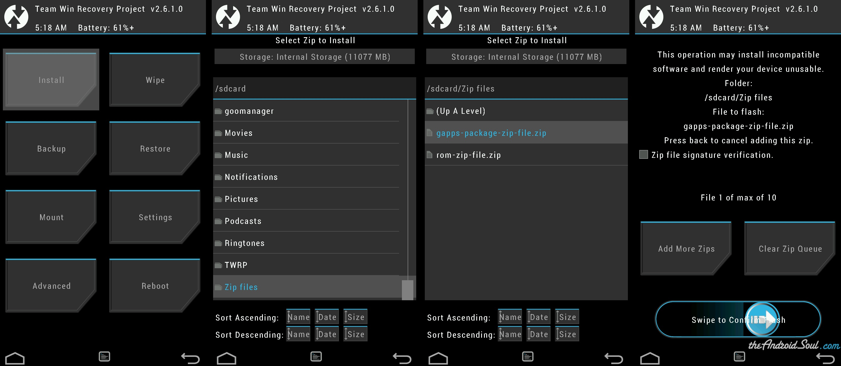 Flash-Gapps-package-.zip-file-using-TWRP-recovery