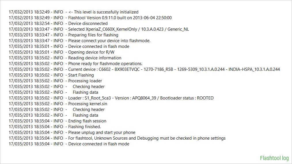 Flashtool-log-for-flashing-10.3.A.0.423-kernel