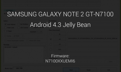 Samsung Galaxy NOTE 2 Update: Android 4.3 based N7100XXUEMI6 firmware leaked