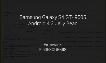 Android 4.3 firmware for Samsung Galaxy S4 GT-I9505 leaked. Firmware name: I9505XXUEMI8