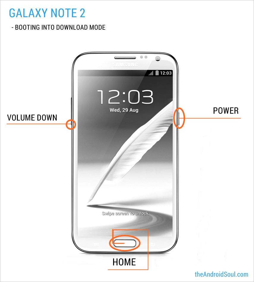 Galaxy Note 2 N7100 Download Mode