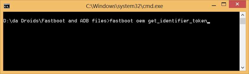 HTC Explorer Pico Bootloader Unlock Token Command
