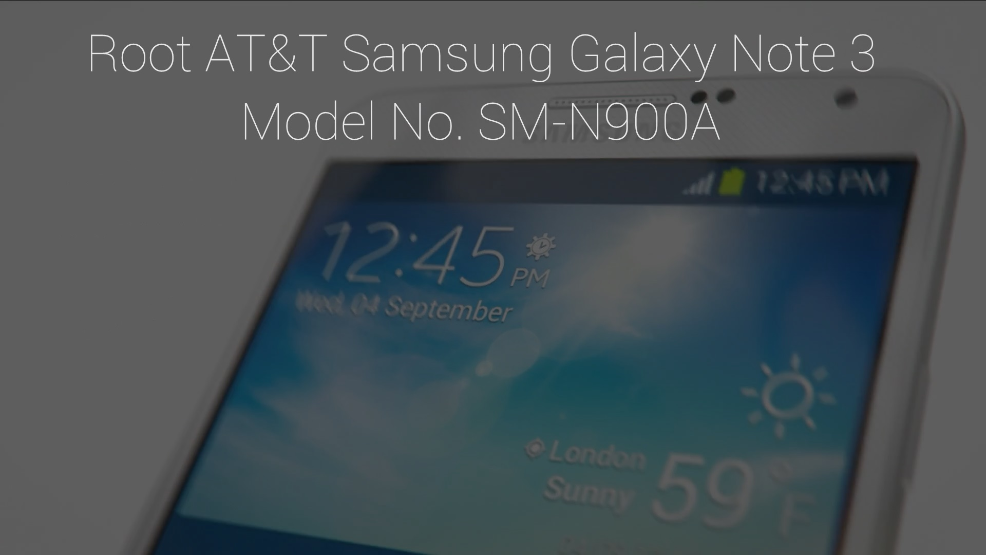 Root AT&T Samsung Galaxy Note III SM-N900A