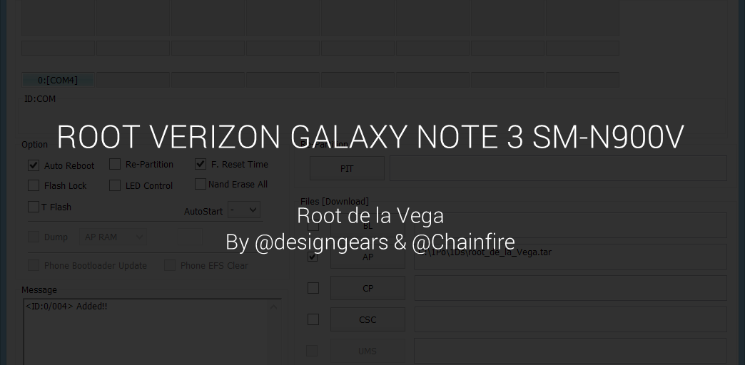 Verizon Galaxy Note 3 Root