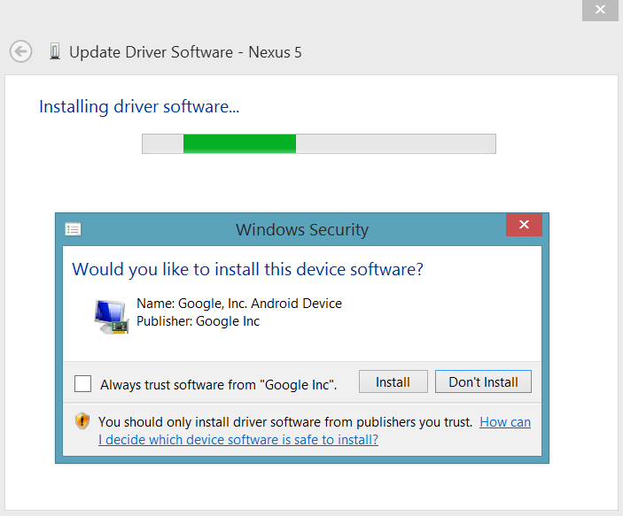 Nexus 5 Adb Driver Windows 8.1 Download