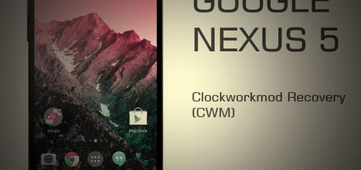 LG Nexus 5 ClockworkMod Recovery