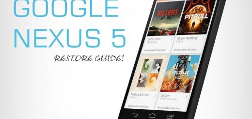 Nexus 5 Restore Guide