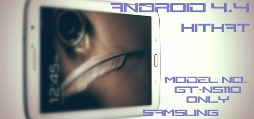 Samsung Galaxy Tab 8.0 N5110 KitKat Update