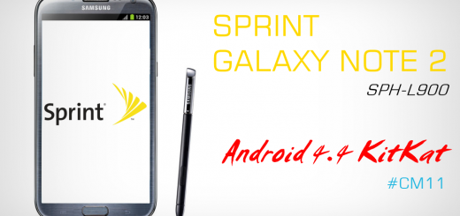 Sprint Galaxy Note 2 SPH-L900 Android 4.4 KitKat CM11 ROM
