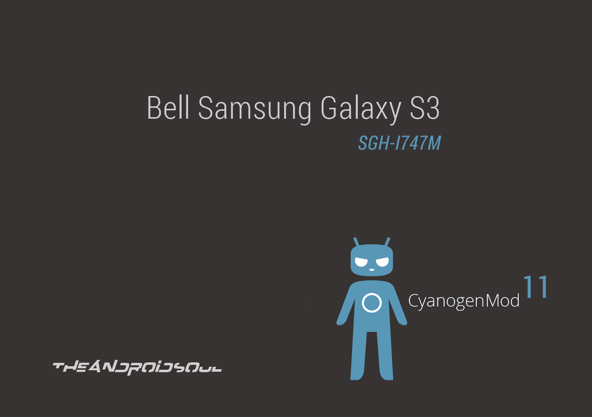 Bell Galaxy S3 Android 4.4.2 based CM11 ROM