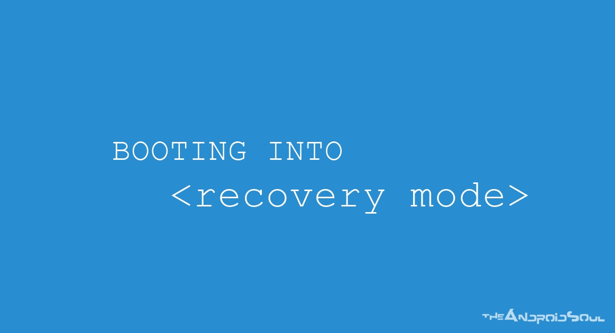 Booting into Recovery Mode