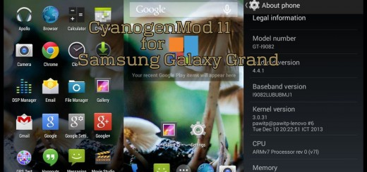 CM 11 for Samsung Galaxy Grand Duos