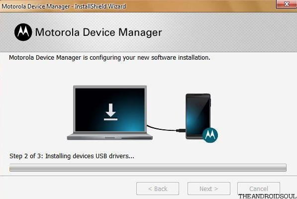Phone tablet to the computer motorola manager will detect it