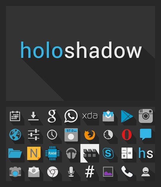Holo Shadow Icon Pack for Android