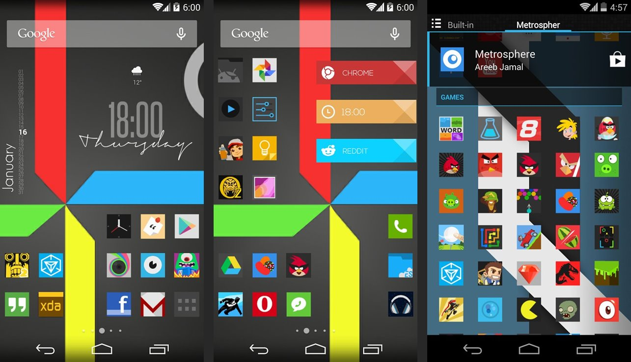 Metrosphere Icon Pack for Android