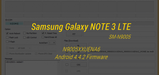 N9005XXUENA6 -- Galaxy NOTE 3 LTE SM-N9005 Android 4.4.2 Firmware Leaked