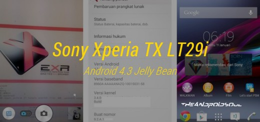 Sony Xperia TX Android 4.3 Jelly Bean