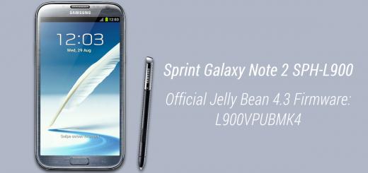 Sprint galaxy note 2 4.3 fw