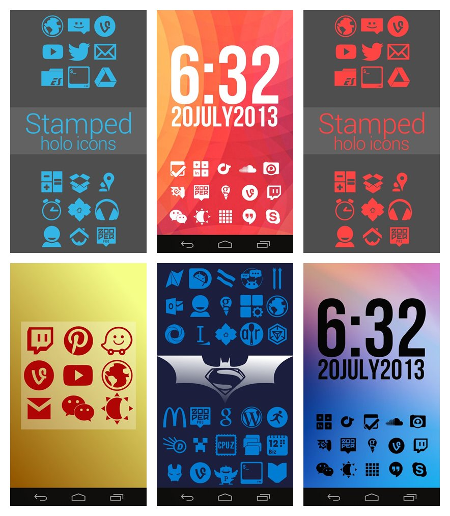 Stamped Icon Pack for Android