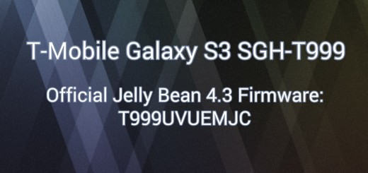 T-Mobile galaxy s3 stock fw 4.3
