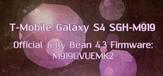 T-Mobile galaxy s4 stock fw 4.3