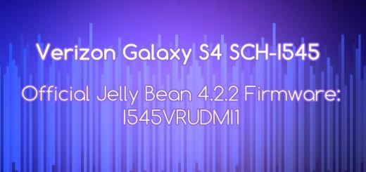 Verizon Galaxy S4 SCH-I545 stock fw