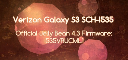 Verizon galaxy s3 stock fw 4.3