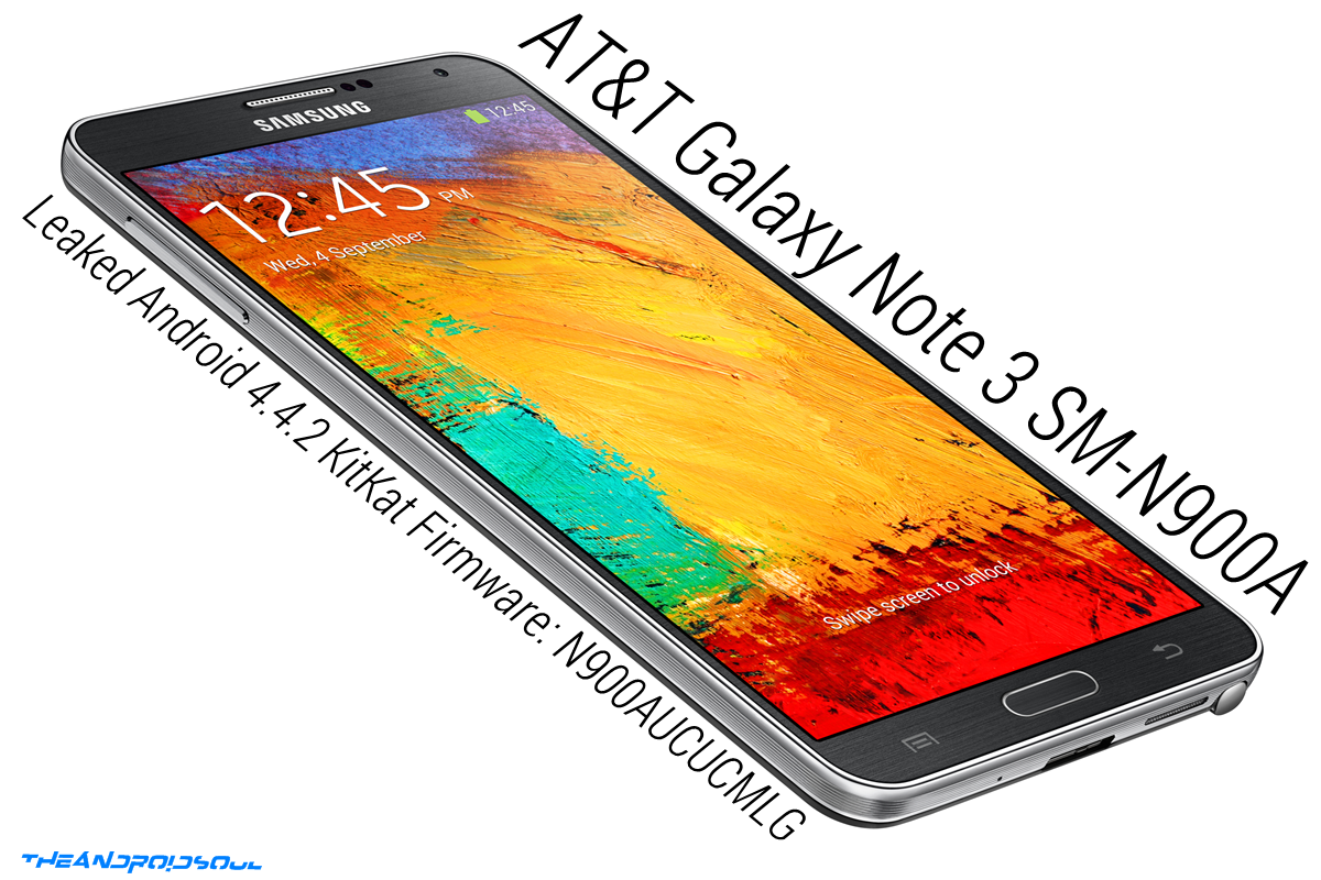 at&t galaxy note 3 kitkat leaked fw