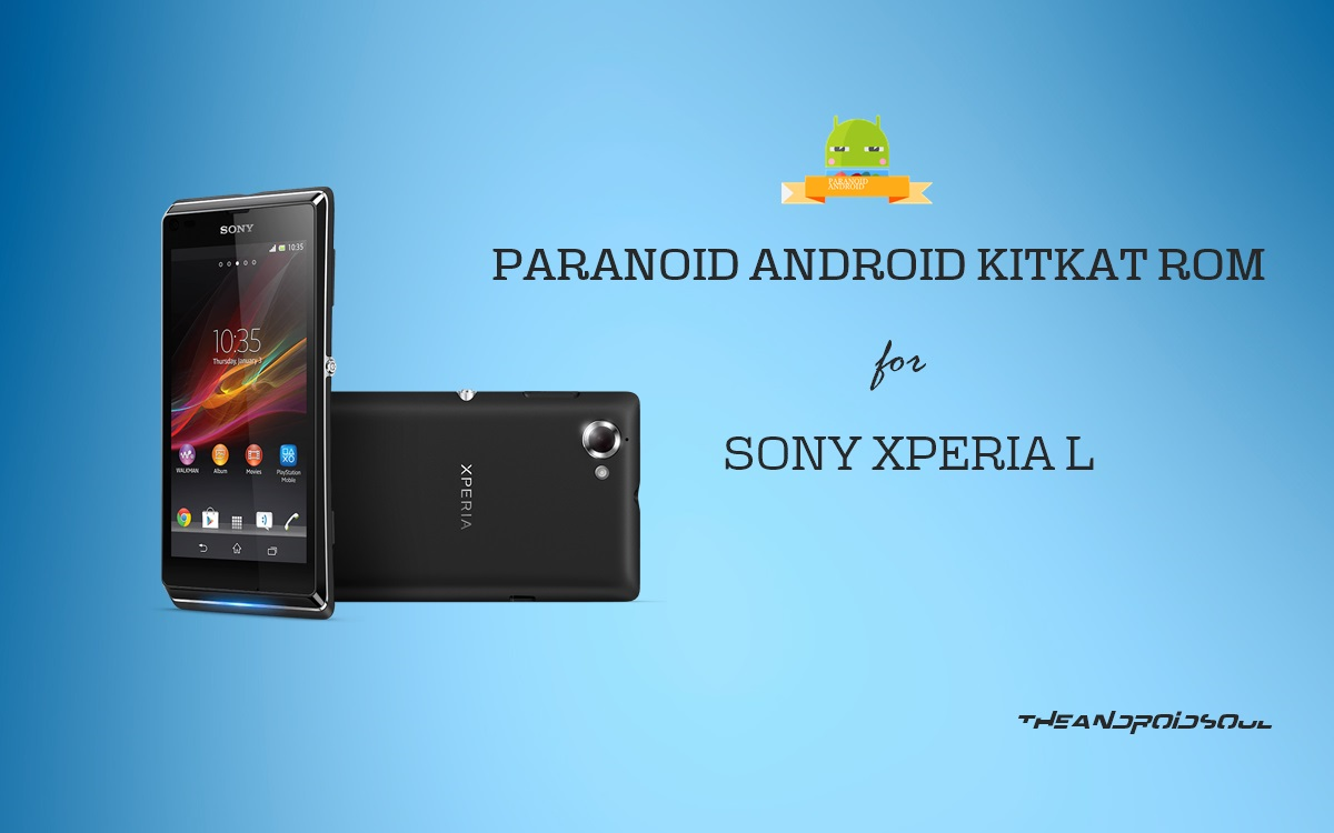 Get Android 4 4 KitKat Update for Sony Xperia L via AOSPA