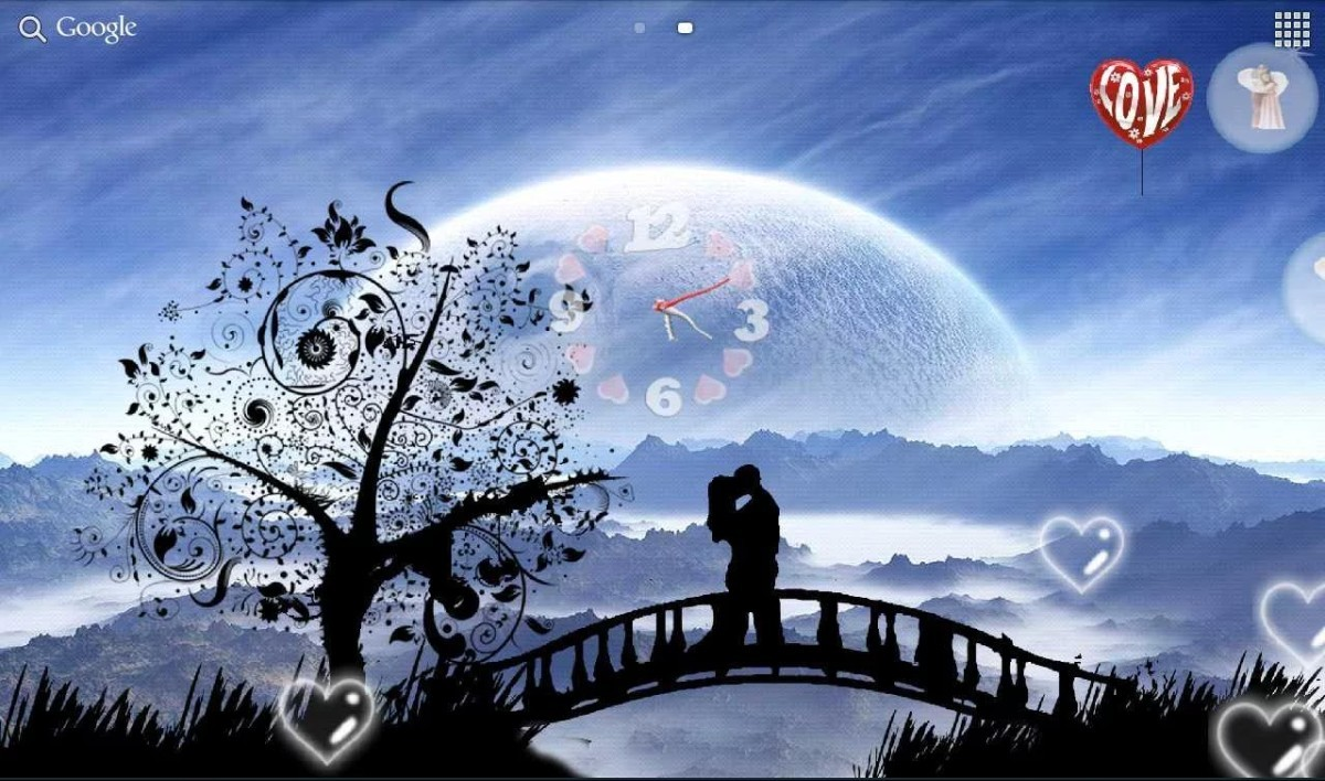 Galaxy hearts live wallpaper