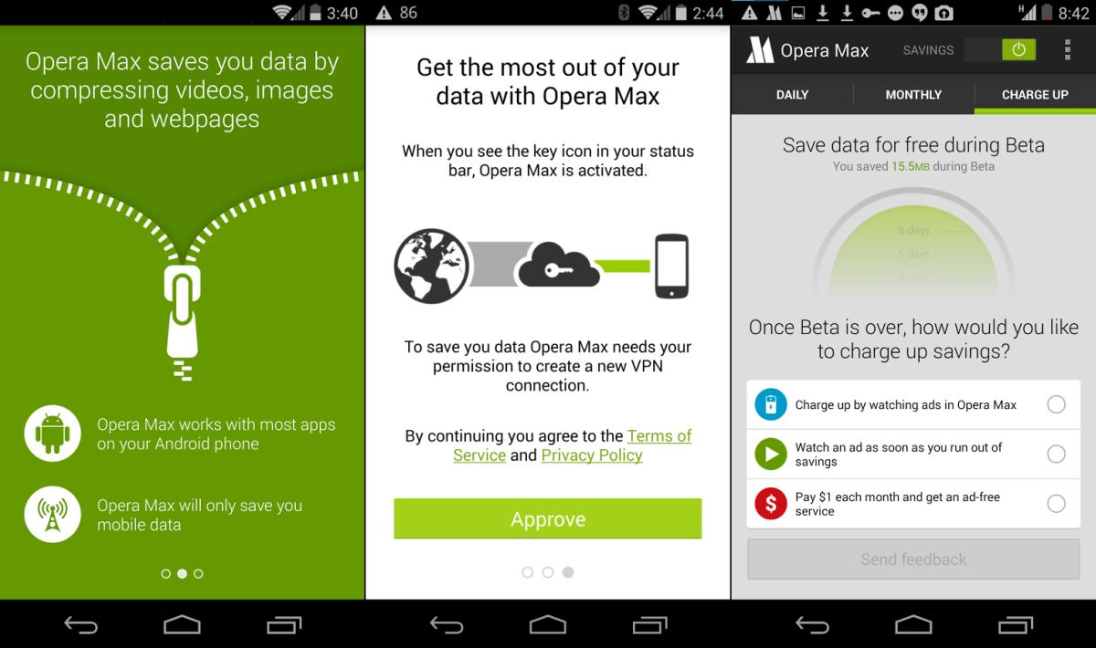 Download Opera Max : The Next Big Step in Data Compression