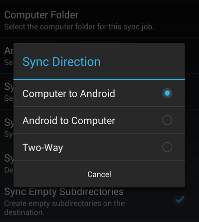 Backup and sync desktop app