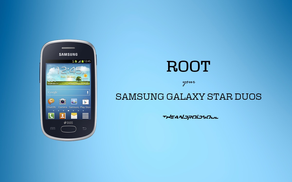 Easily root samsung galaxy star duos gt-s5282.