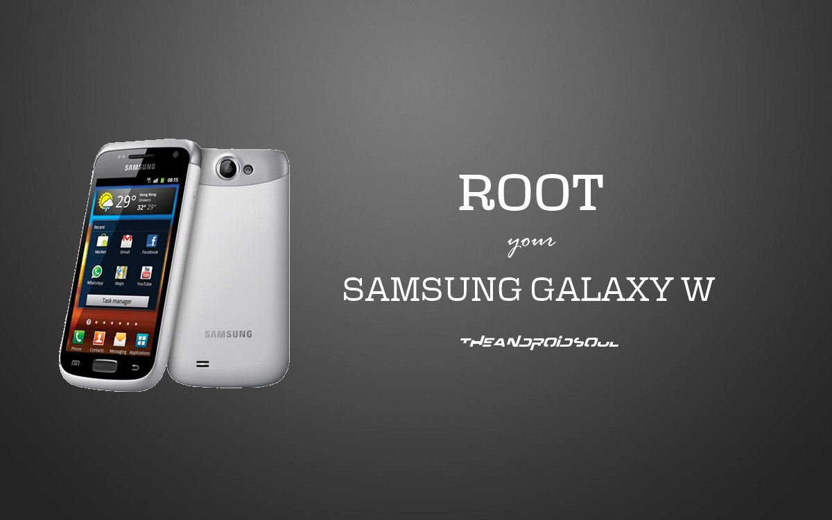 How to root samsung galaxy w
