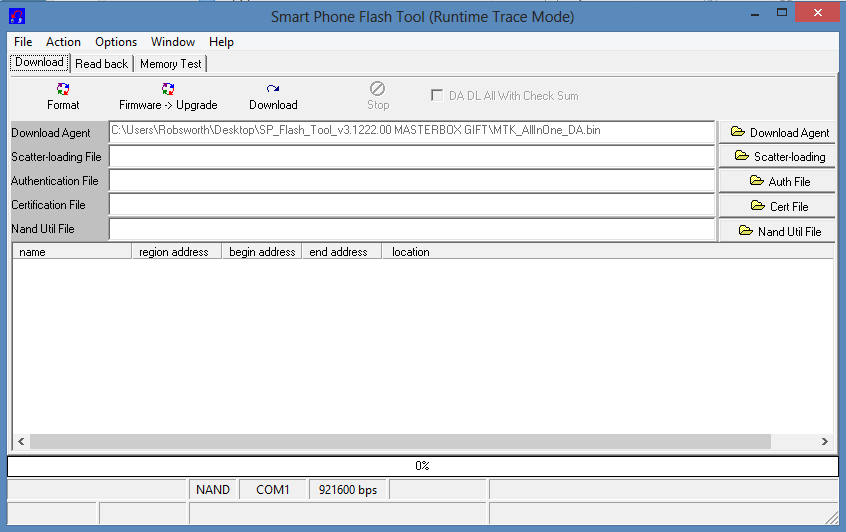 scatter loading file for sp flash tool