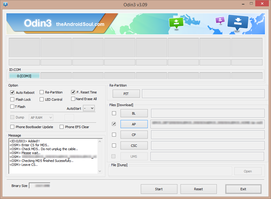 Odin-File-Added-Screen