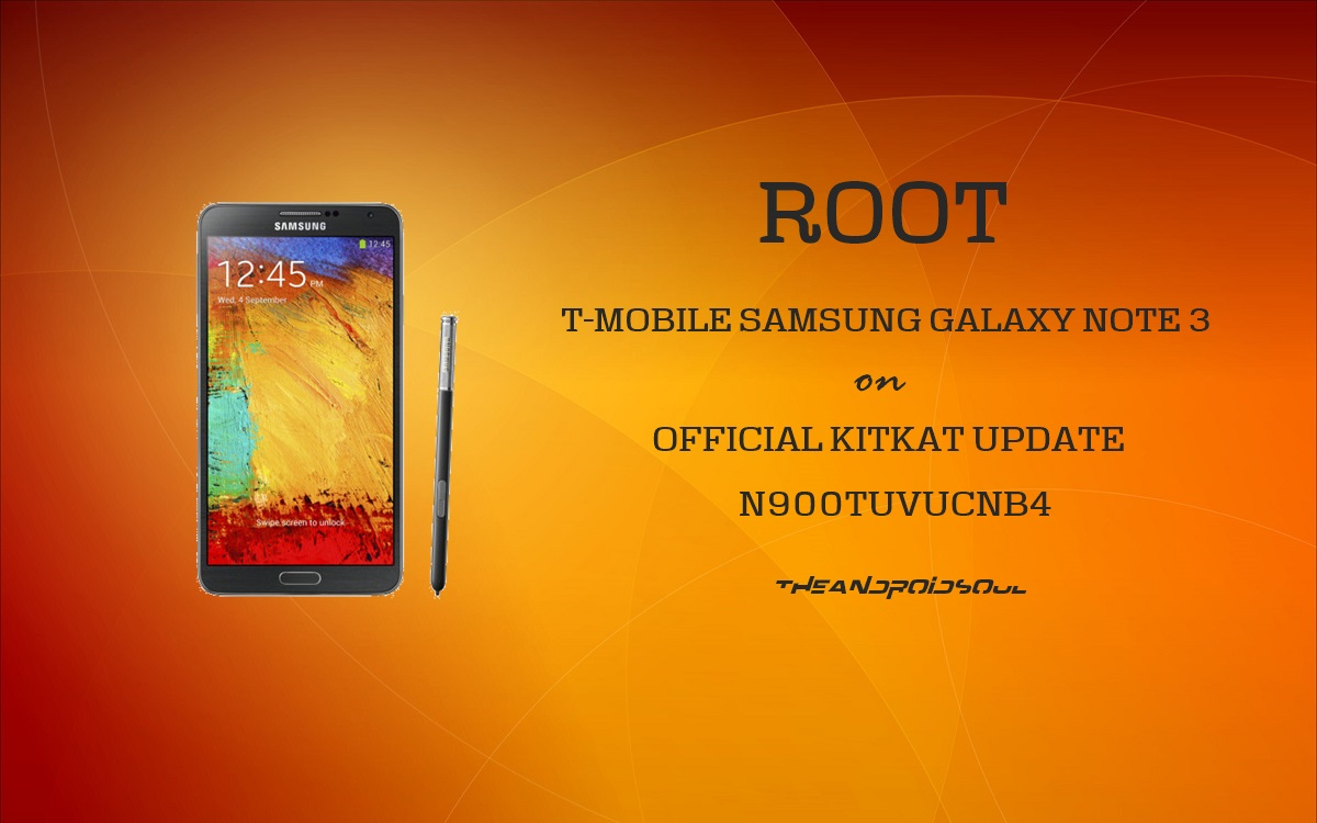 Root T-Mobile Galaxy Note 3 SM-N900T on Android 4 4 2 KitKat Update