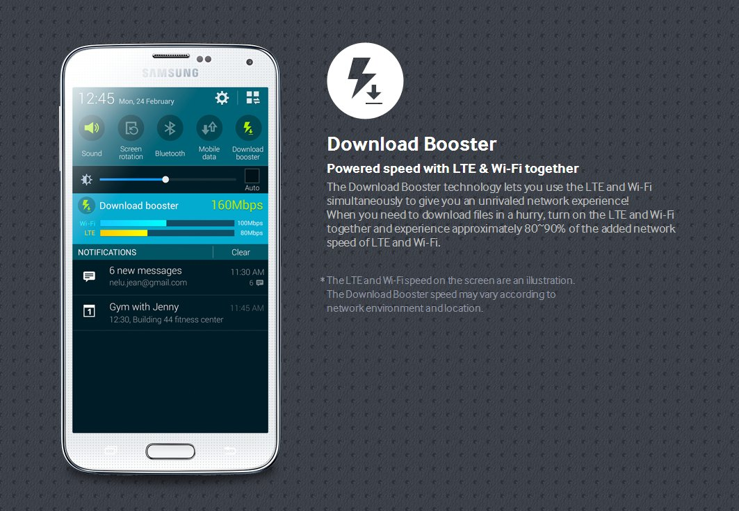 Galaxy S5 Download Booster