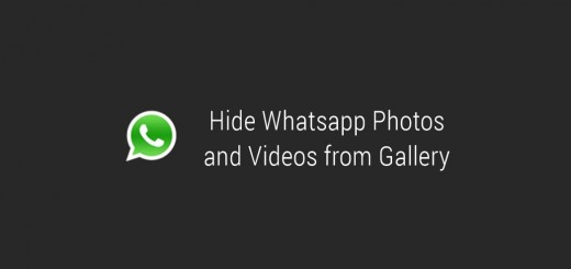 Hide Whatsapp Photos and Videos from Gallery