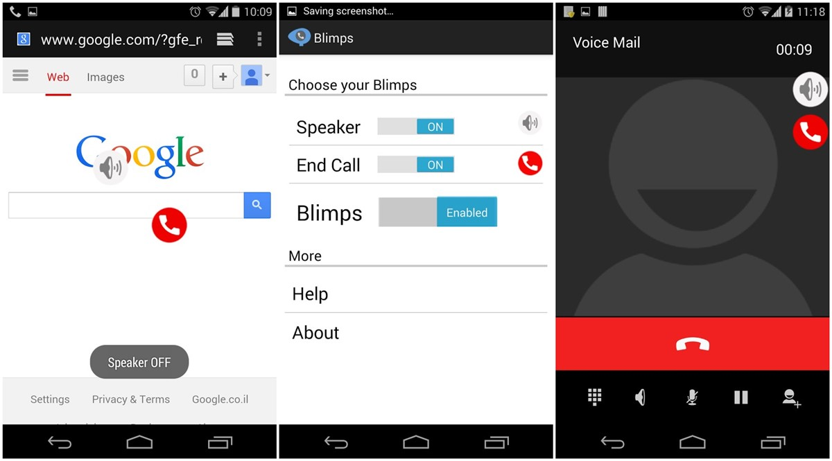Phone Call Phone Android easy multitasking leave call screen and work on phone easily with blimps floating dialer feat android app gets you two useful nice looking fully round buttons for speaker end c