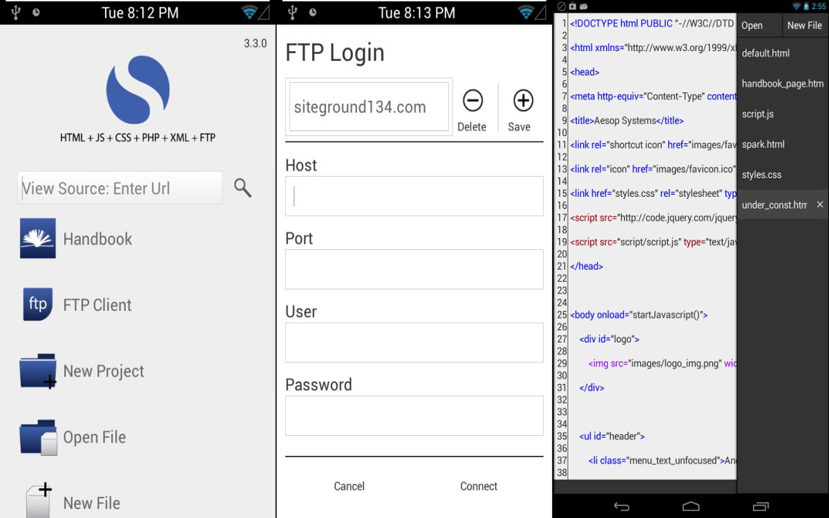 Best Code/Text Editors for Android with Syntax Highlighter