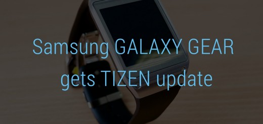 Galaxy Gear Tizen Update