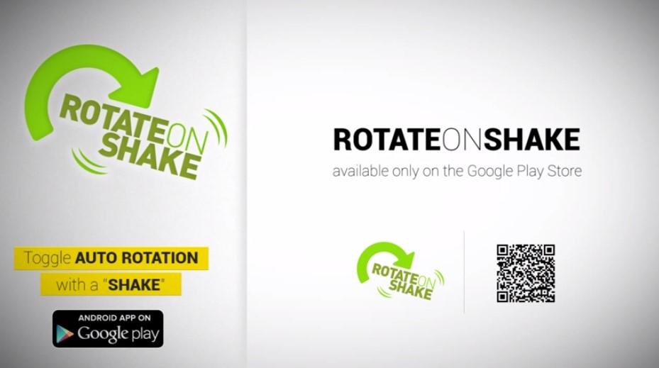 Shake-to-rotate