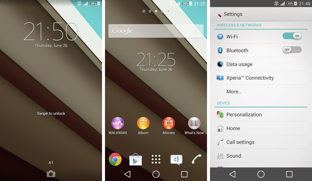 Xperia l android 4. 2. 2 15. 3. A. 0. 26 firmware rolled out updated.