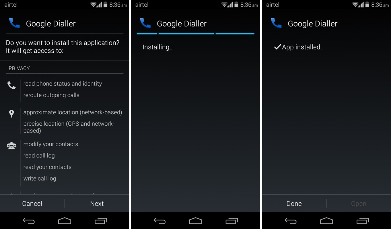 Download Google Dialer APK v1 1 from Android 4 4 3