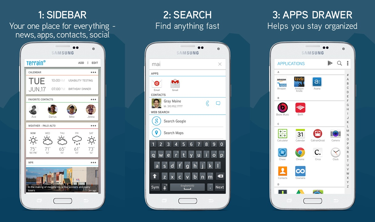 samsung launches the smart home screen app terrain home to help you organize your content the. Black Bedroom Furniture Sets. Home Design Ideas