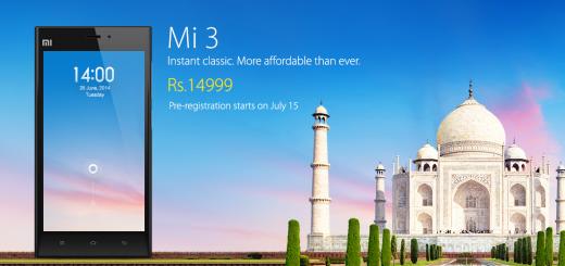 Xiaomi Mi 3 coming soon at ₹ 14999